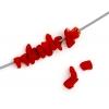 """Semi-precious Chips 2X8""""strand Coral Red"""